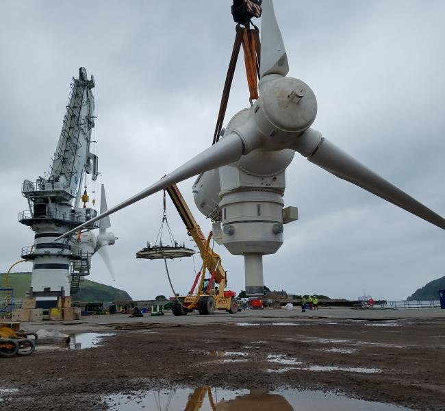 Andritz Hydro Nacelle Lifted By Crane