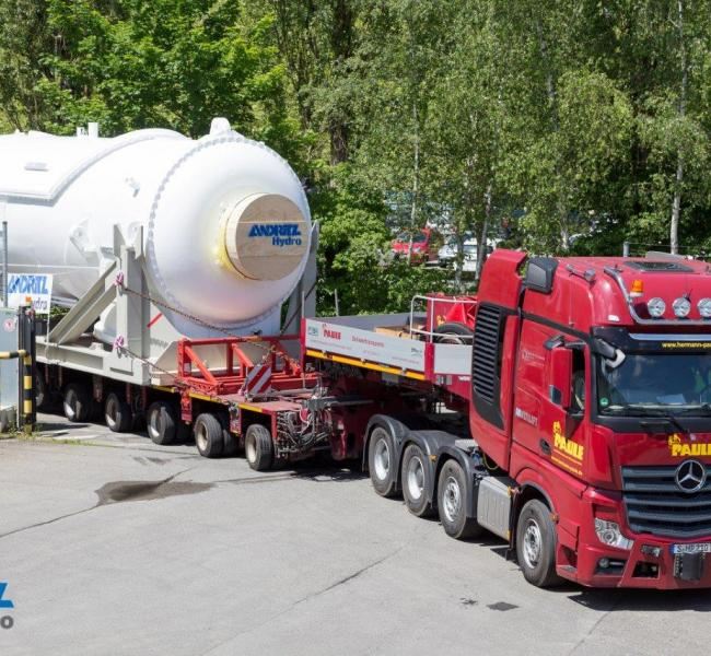 Andritz Hydro Nacelle Transport