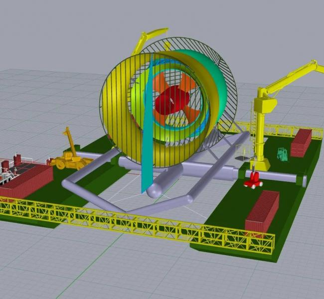 Hydrokinetic Energy Corp Turbine Model