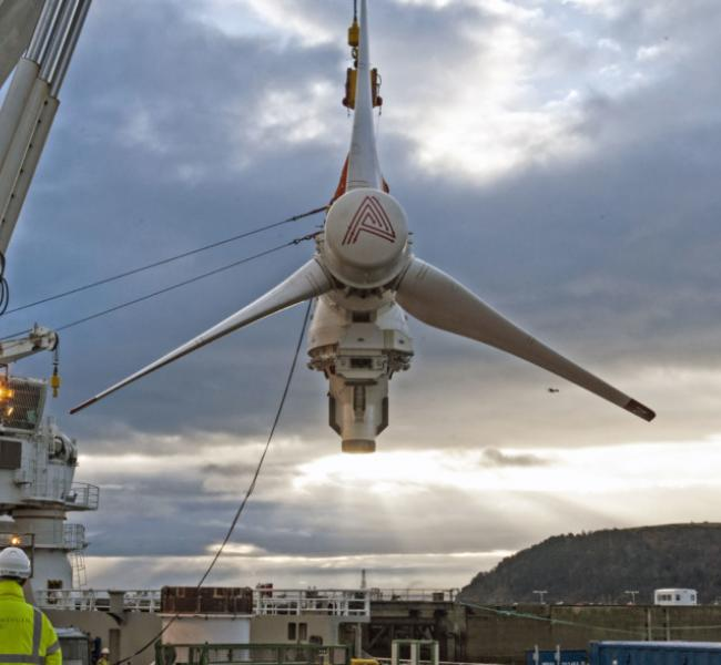 SIMEC Atlantis Energy Turbine Installation