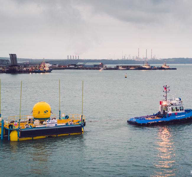 Marine Power Systems - WaveSub Falmouth Launch - Owen Howells Photography