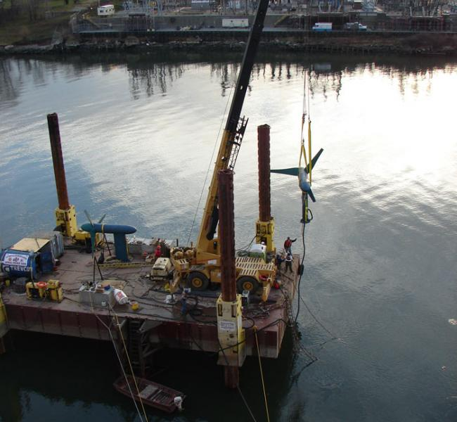 Verdant Power - Gen4 Free Flow System Demonstration at Roosevelt Island Tidal Energy (RITE)