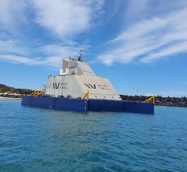 Wave Swell Energy's UniWave200 Installed at King Island