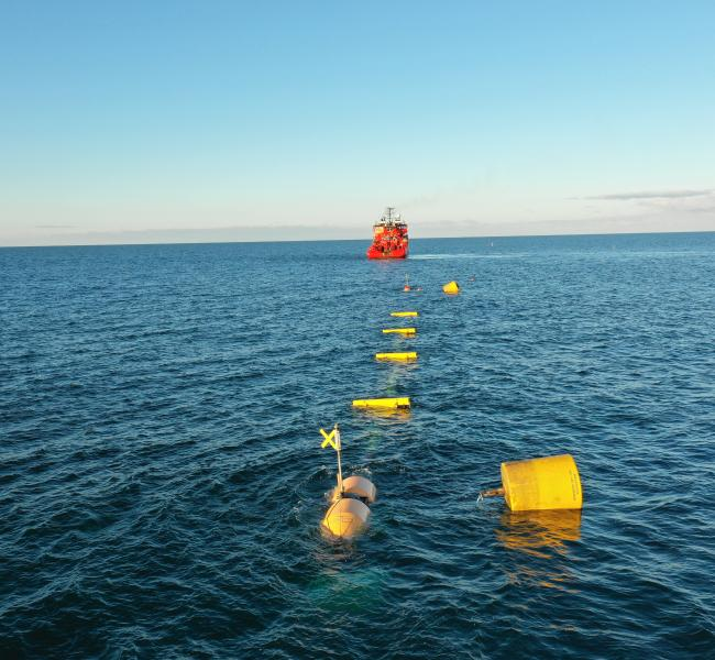 WavePiston - WavePiston Demonstration in the North Sea